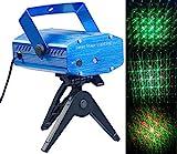 Lunartec Lichtorgel: Indoor-Laser-Projektor, Sternenmeer-Effekt, Sound-Steuerung, grün/rot (Laserlicht)
