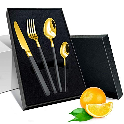 Elegant Life Hochwertige Spiegelpolierte Bestecksets für Haus, Küche, Party, Restaurant