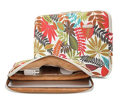 KAYOND Laptophülle 14 Zoll, Laptoptasche Laptop Sleeve Wasserabweisendmit Zubehörfach Kompatibel mit ThinkPad MacBook(Weißer Wald, 14-14,1 Zoll)