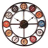 Wanduhr Groß xxl 60cm, CT-Tribe 60cm Vintage Lautlos Metall Uhr Wanduhr Haus Dekoration für Küche Wohnzimmer