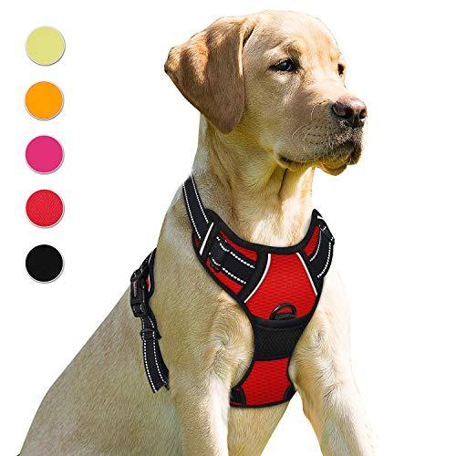 Supet Hundegeschirr Einstellbare, Anti Zug Geschirr Reflektierend Brustgeschirre aus Nylon Oxford für Große Mittlere und Kleine Hunde