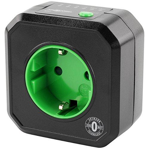 ANSMANN Timer Steckdose AES1 / Energiesparende Steckdose mit Zeitschaltuhr für Haushaltsgeräte: Heizlüfter, Kaffeemaschine, Waschmaschine uvm. / Betriebszeit per Tastenfunktion einstellbar
