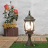 Außen-Sockelleuchte Weglampe Brest in antik/E27 bis 60W/IP44 Wetterschutz/Wegeleuchte Außen-Leuchte Pfeiler-Lampe
