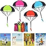 JWTOYZ Fallschirm Spielzeug Kinder, 4 Stück Fallschirm Kinder Fallschirmspringer Spielzeug, Outdoor Flugspielzeug für Kinder