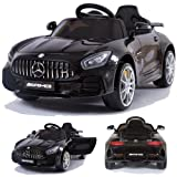 Mercedes-Benz GT-R GTR SoftStart Kinderauto Kinderfahrzeug Kinder Elektroauto (schwarz)