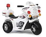 Toyas Kindermotorrad Elektromotorrad Kinder Elektro Motorrad Kinderfahrzeug (Weiß)