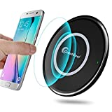 GreatCool Wireless Charger,Induktive Ladegerät Wireless Charging Fast Ladestation Induktionsladegerät 10W 5W für Apple iPhone XS Max Xr X 8 Plus, Samsung Galaxy S9 S8 S7 S6 Edge Plus Mehr qi Geräte