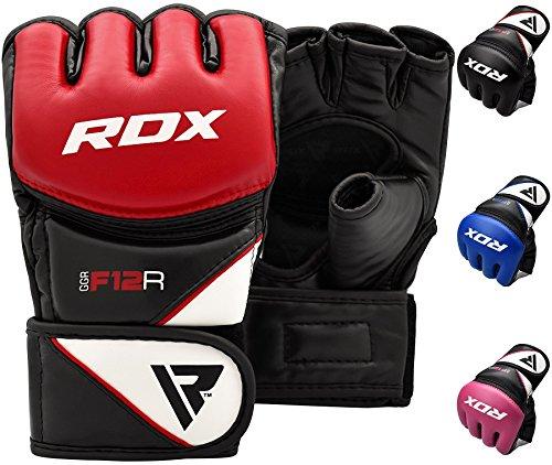 RDX MMA Handschuhe Profi Kampfsport Boxsack Sparring Training Grappling Gloves Freefight Sandsack Maya Hide Leder Punching Handschuhe(MEHRWEG)