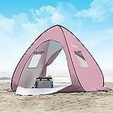 WolfWise UPF 50+ UV Schutz Strandmuschel Pop Up Baby/Familien Sonnenschutz Strandzelt Sonnenschirm Tragbar