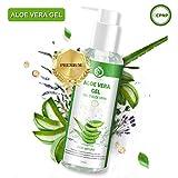 Aloe Vera Gel Feuchtigkeitscreme Aloe Vera Pflanze After Sun Aloe Vera Gel Bio 100% - für Gesicht, Haare und Körper - Natürliche, Sonnenbrand Reparieren ohne eigenartigen Geruch-250ml, MEHRWEG