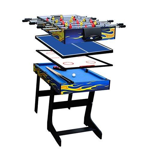 Ifoyo 4-in-1Spieltisch, 120 cm, stabiler Kombi-Tisch für Hockey, Fußball, Poolbillard, Tischtennis