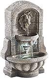 infactory Tisch-Brunnen: Beleuchteter Zimmerbrunnen 'Löwenkopf' mit LED und Pumpe (Tischbrunnen als Dekoration)