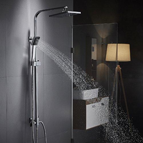OBEEONR Moderde Design Duschset Duscharmatur Duschsystem mit Regendusche und Duschkopf Handbrause für Badezimmer Kupfer Dusche