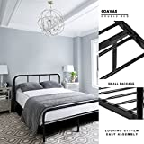 Doppelbett Metallbett Coavas 4ft Doppelbett 6 Solid Bettstelle mit 2 Kopfende Metallbett Schwarz