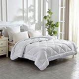 HOMEFOUCS Ganjahresdecke Gesteppte Bettdecke für Sommer und Winter aus 100% Mikrofaser in Größe135x200, Washbar und Antiallergisch