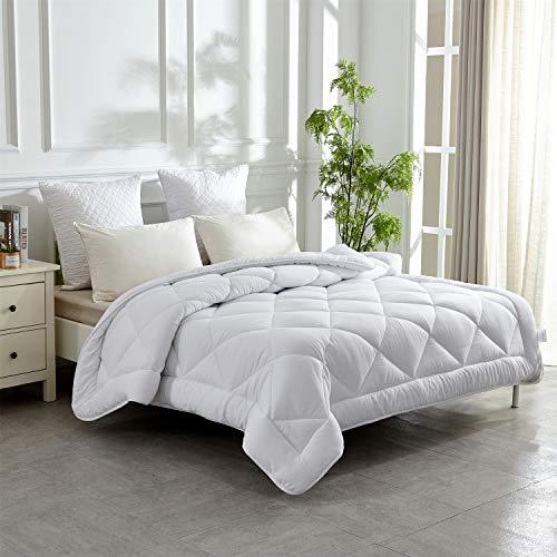 HOMEFOUCS Ganjahresdecke Gesteppte Bettdecke für 4-Jahreszeiten aus 100% Mikrofaser in Größe135x200, Washbar und Antiallergisch
