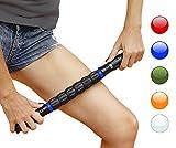 Faszienroller mit Griff – Triggerpunkt Massage Stick zur Muskelentspannung & Muskelkater Linderung – Massageroller Stab zur Tiefengewebsmassage & Schmerzlinderung