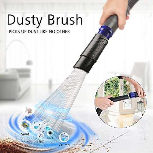 Nifogo Dust Bürste,Universal Staubsauger Aufsatz Pinsel,staubsaugeraufsatz,mit 30 Flexiblen Saugrohren,für Tastaturen, Schubladen, Auto, Ecke (Blau)