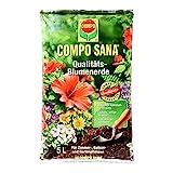 COMPO SANA Qualitäts-Blumenerde, Universalblumenerde mit einzigartiger Zusammensetzung für optimales Pflanzenwachstum