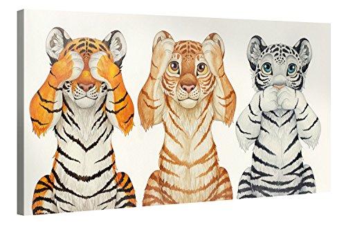 Premium Kunstdruck Wand-Bild - Kids Selection - See-Hear-Speak - 100x50cm - Leinwand-Druck in deutscher Marken-Qualität - Leinwand-Bilder auf Holz-Keilrahmen als moderne Wanddekoration