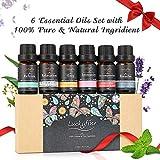 Hochwertiges Ätherisches Öl Set, Luckyfine Duftöl Set 6 Flaschen 10ml, Essential Oil entspannen die Körper & Geist, Ideal Auswahl für den persönlichen Gebrauch und tolle Geschenkidee