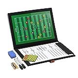 GHB Professional Fußball Coach-Board Taktikmappe Coach-Mappe mit 2x Stifte, Radiergummi, 24er Magneten und Signalpfeife