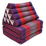 Thaikissen Kapok Bodenkissen Dreieckskissen Nackenkissen Liegematte Sitzkissen LOUNGE ***violett-rot*** Verschiedene Modelle und Größen erhältlich ***HANDMADE*** (Kissen 3 Auflagen (81503))