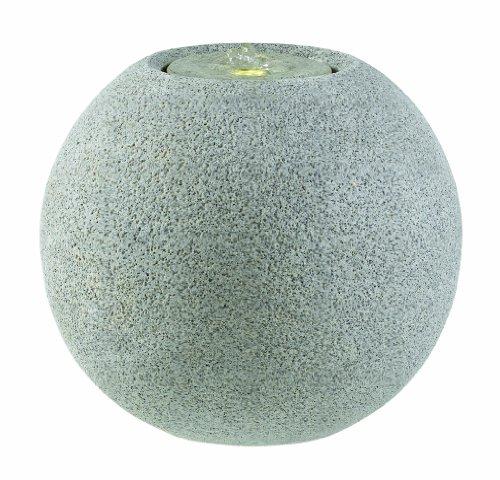 Esteras 8512320741 Fountainslite Stone Garden Fountain, Meco 41, granite grey, Ø 41 x H 36 cm