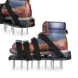 TK TAKELIFE Rasenlüfter Schuhe, 4 Riemen Rasenbelüfter-Nagelschuhe, 30cm Lange Sohlen, 5,5cm Lange Nägel, 4 einstellbare Riemen mit Metallschnalle GAS1A
