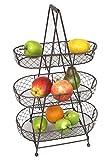 Etagere aus Metall mit 3 Körben für Obst & Gemüse - Shabby Landhaus Vintage