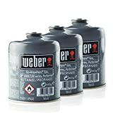 Weber 3er-Pack Gas-Kartusche für Q100/1000-Serien, Performer & Go Anywhere