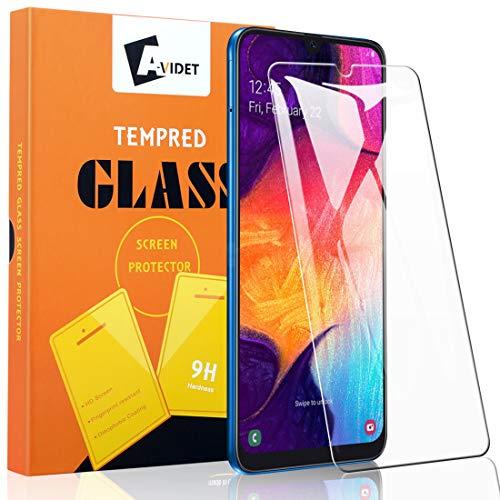 A-VIDET 3 Stück Schutzfolie für Samsung Galaxy A50,9H Härte Super Langlebig, Anti-Öl,Schutzfoliefolie Displayschutz Displayschutzfolie für Samsung Galaxy A50