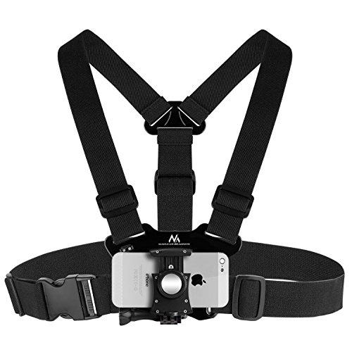 Maclean MC-773 Kamera Brustgurthalter Brustgurt Halterung Träger Holster Handy Kamera Kompatibiel mit GoPro Kameras