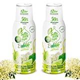 Light Low-Carb Fitness-Sirup Holunderblüte-Limette-Minze Geschmack von Frutta Max light | Ohne-Zucker | mit Stevia | Gesund und lecker mit 50% Fruchtanteil 2erPack(2x500ml)