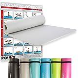 POWRX Gymnastikmatte Yogamatte inkl. Workout I Trainingsmatte Phthalatfrei 183 x 60 x 1 cm I Matte hautfreundlich I versch. Farben