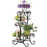 MalayasBlumenständer Blumentreppe aus Metall für 4 Blumentöpfe , 4 Etagen, für Blumen Pflanzen Dekoration in Haus und Garten stufenförmig Blumenregal