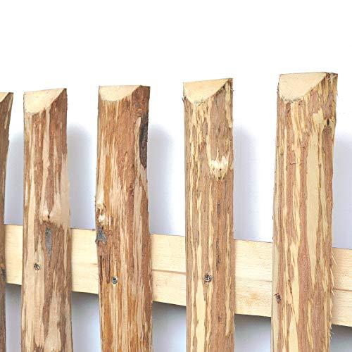 Zaunlatten aus Haselnuss • Zaunbretter 5-6 x 180cm zum Selbstbauen von Holzzaun, Lattenzaun, Staketenzaun bzw. Kastanienzaun