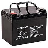 ECTIVE Bleiakku 12V 36Ah Zyklenfeste AGM Batterie Blei Akku EBC-Serie 13 Varianten: 25Ah - 280Ah (wartungsfrei)