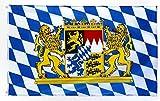 Star Cluster 90 x 150 cm | Bayern Flagge | Bayern Fahne | Fanartikel | Bavaria Flag (Bavaria 90 x 150 cm)