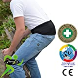 Lumbar Belt Hip & Lower Back Support - No Fixed Stays, Non Sweat - Superior Odourless, Rash-Free Alternative to Neoprene/Latex Products. Unisex. (Groß)