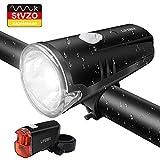 LIFEBEE LED Fahrradlicht, Batterie Fahrradbeleuchtung StVZO Zugelassen USB Frontlicht und Rücklicht Fahrradlampe Set, 2 Licht-Modi, Regenfest Fahrradlichter für Mountainbike, Batterie Nicht inklusive