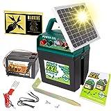 VOSS Power XXL B 9.000-S | Solar-Weidezaungerät 9V/12V, inkl. 9V Batterie | Megapower zum Kampf-Preis | Hocheffektives Solarmodul – sehr Lange Batterielaufzeit | Perfekt für Pferde & Ponyzaun