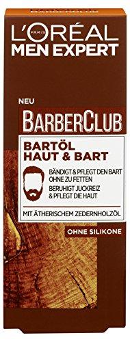 L'Oréal Men Expert Barber Club Bartöl Haut und Bart, 1er Pack (1 x 30 ml)