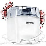 Duronic IM540 Eismaschine - Gefrierbehälter mit 1,5 L Fassungsvermögen - fertiges Dessert in 15-30 Minuten -- Speiseeismaschine/Speiseeisbereiter für Eiscreme, Sorbet, Frozen Joghurt