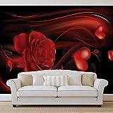 Herz Rose Abstrakt - Forwall - Fototapete - Tapete - Fotomural - Mural Wandbild - (300WM) - XXL - 368cm x 254cm - Papier (KEIN VLIES) - 4 Pieces