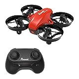 Potensic Mini Quadrocopter Drohne 2.4GHz 6-Achsen Ferngesteuerte Drohne Einknopfdruck Zum Starten und Landen Kopflos Modus Spielzeug Drohne für Anfänger Kinder - Drohne Ohne Kamera (Rot)