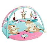 Fehn 081657 3-D-Activity-Decke Esel / Spielbogen mit 5 abnehmbaren Spielzeugen für Babys Spiel & Spaß von Geburt an / Maße:  Ø85cm