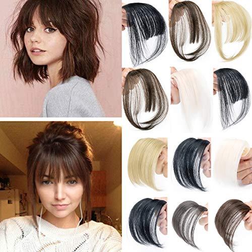 AFUT Einteilige Mode Air Hair Pony Clip in Haarverlängerungen Vorderseite Ordentlich Bang Fringe Clip auf Gerade Air Hair Pony Haarteil