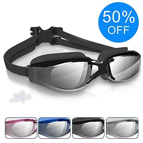 Arteesol Schwimmenbrille für Erwachsene Swimming Goggles 100% UV-Schutz Schwimmenbrillen für Herren und Damen Anti-Fog 180° Panoramasicht mit Schutzhülle und Ohrstöpsel