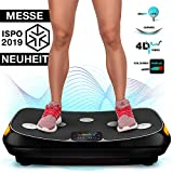 Messe-Neuheit 2019! 4D Vibrationsplatte VP400 mit einmaligen Curved Design, Color Touch Display, Riesige Fläche, Smart LED Technologie inkl. Remote-Watch, Trainingsbänder, Übungsposter & Schutzmatte